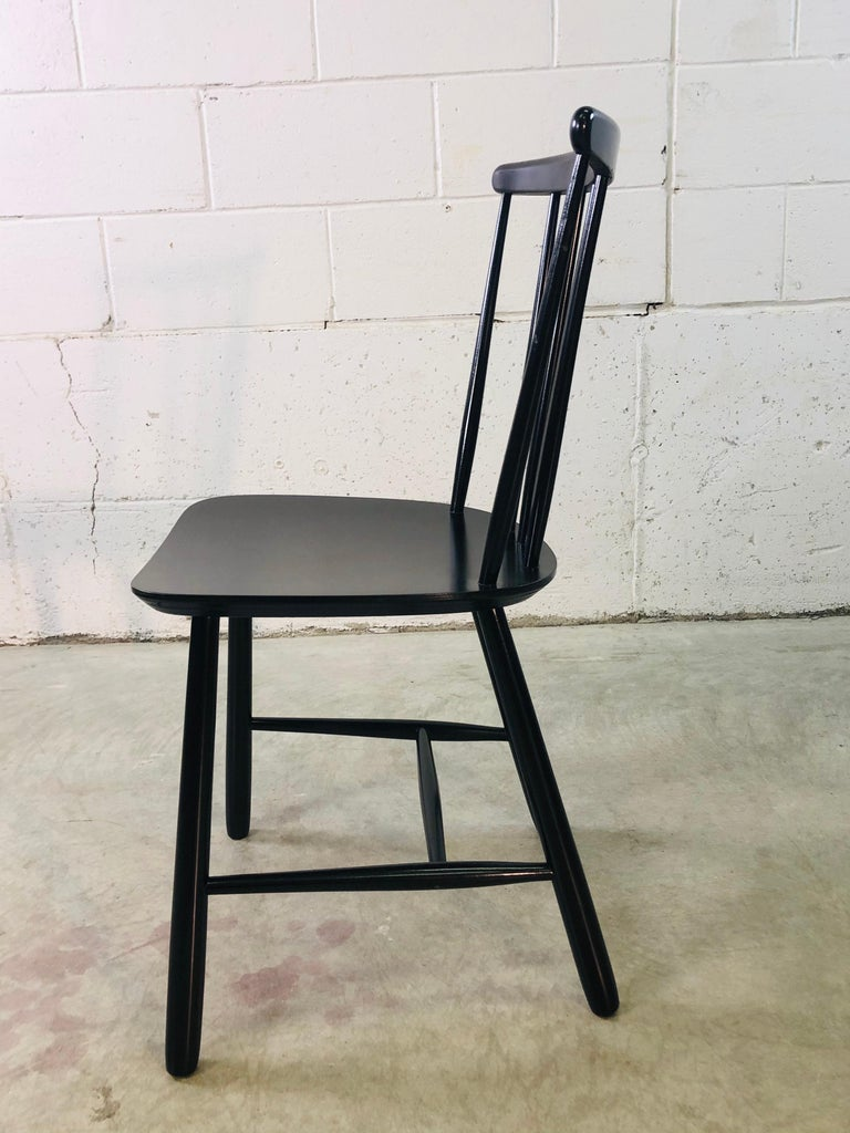 1960s Farstrup Danish Black Dining Chairs, Set of 3 For Sale 2