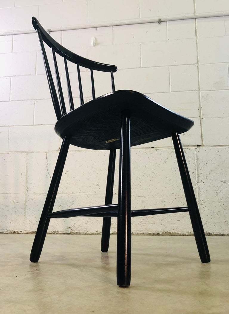 1960s Farstrup Danish Black Dining Chairs, Set of 3 For Sale 3