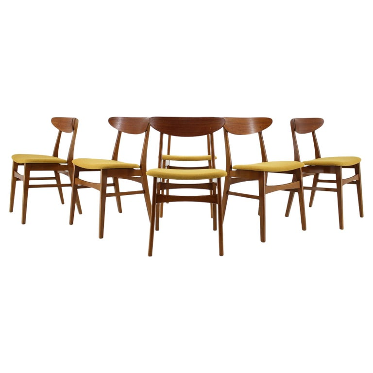 Remarkable 1960S Farstrup Teak Dining Chairs Set Of 6 Squirreltailoven Fun Painted Chair Ideas Images Squirreltailovenorg
