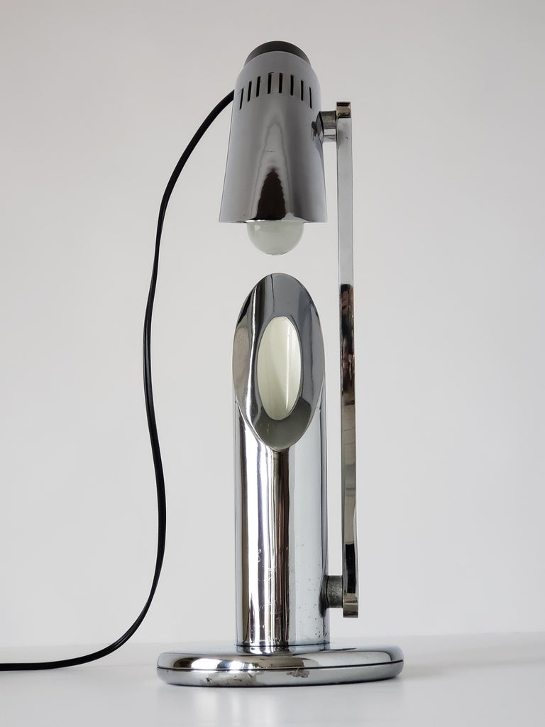 1960s Fase 'Tharsis' Chrome Table Lamp, Spain For Sale 4