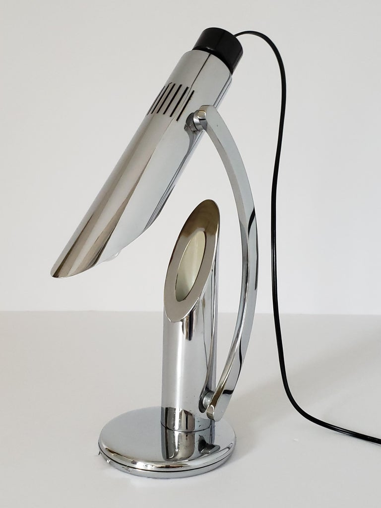 1960s Fase 'Tharsis' Chrome Table Lamp, Spain For Sale 7