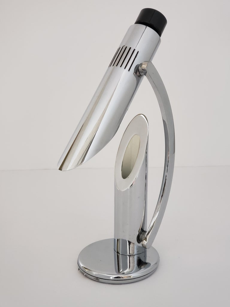 1960s Fase 'Tharsis' Chrome Table Lamp, Spain For Sale 11
