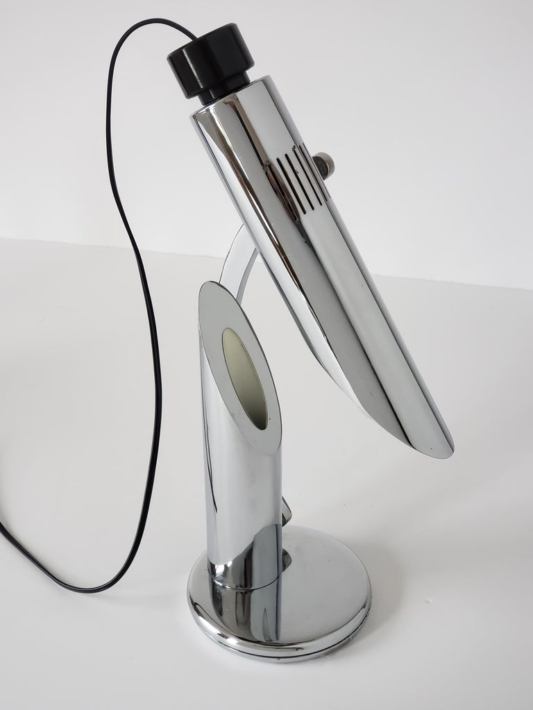 1960s Fase 'Tharsis' Chrome Table Lamp, Spain For Sale 1