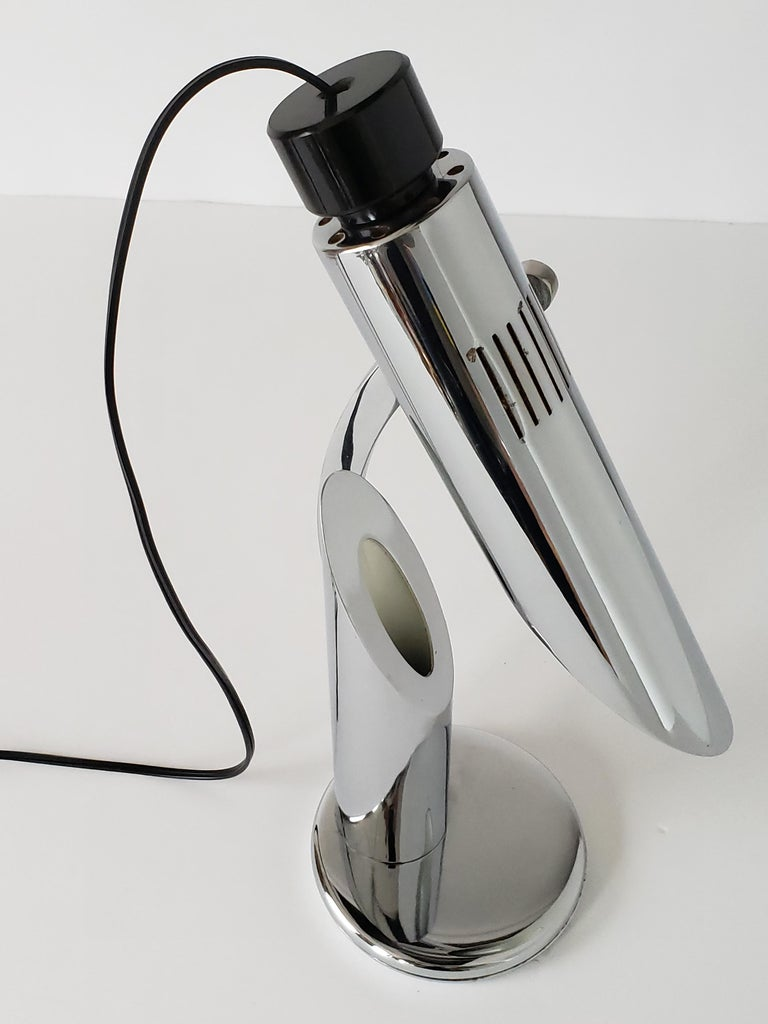 1960s Fase 'Tharsis' Chrome Table Lamp, Spain For Sale 2