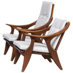 1960s Fauteuil 'the Knot' Model, 'He' and 'She' for De Ster Gelderland Set of 2
