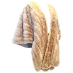 1960'S Fine Blonde Pastel Mink Fur Cape Jacket