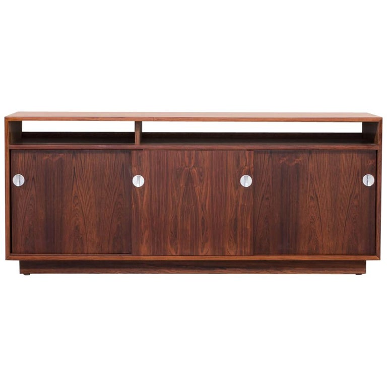 1960s Finn Juhl Rosewood Side, Lowboard from the Diplomat Series for Cado For Sale