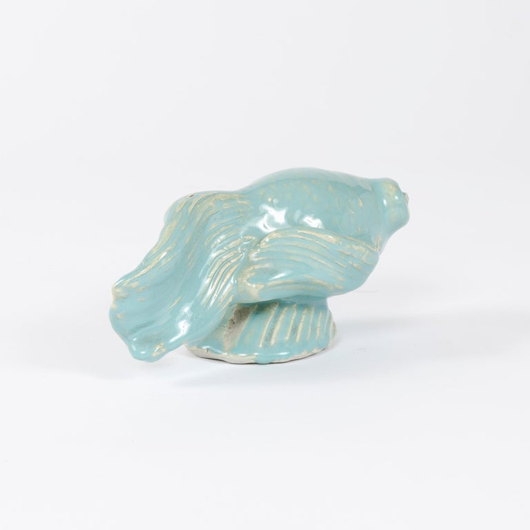 1960s Finnish Betta Fish Sculpture by Michael Schilkin for Arabia In Good Condition For Sale In Sagaponack, NY