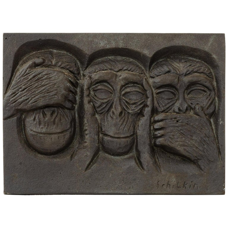 1960s Finnish Cast Iron Plaque by Michael Schilikin for Arabia For Sale