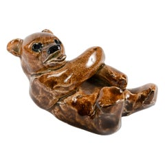 1960s Finnish Ceramic Bear Figurine by Arabia