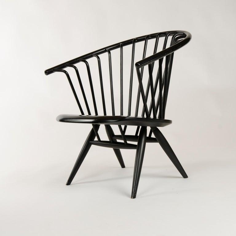 Scandinavian Modern 1960s Finnish Pair of Crinolette Lounge Chairs by Ilmari Tapiovaara for Asko For Sale
