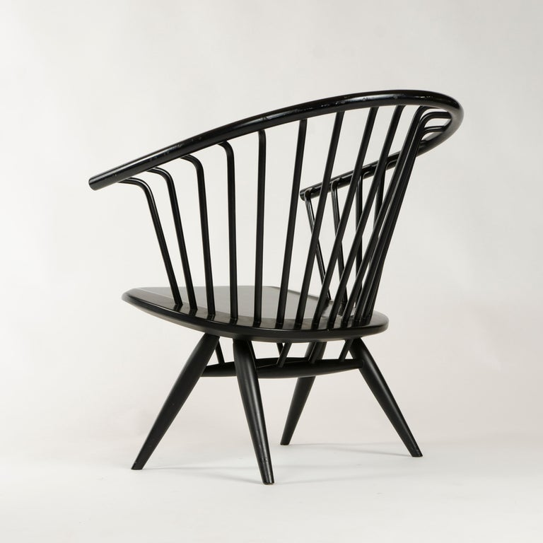 Mid-20th Century 1960s Finnish Pair of Crinolette Lounge Chairs by Ilmari Tapiovaara for Asko For Sale