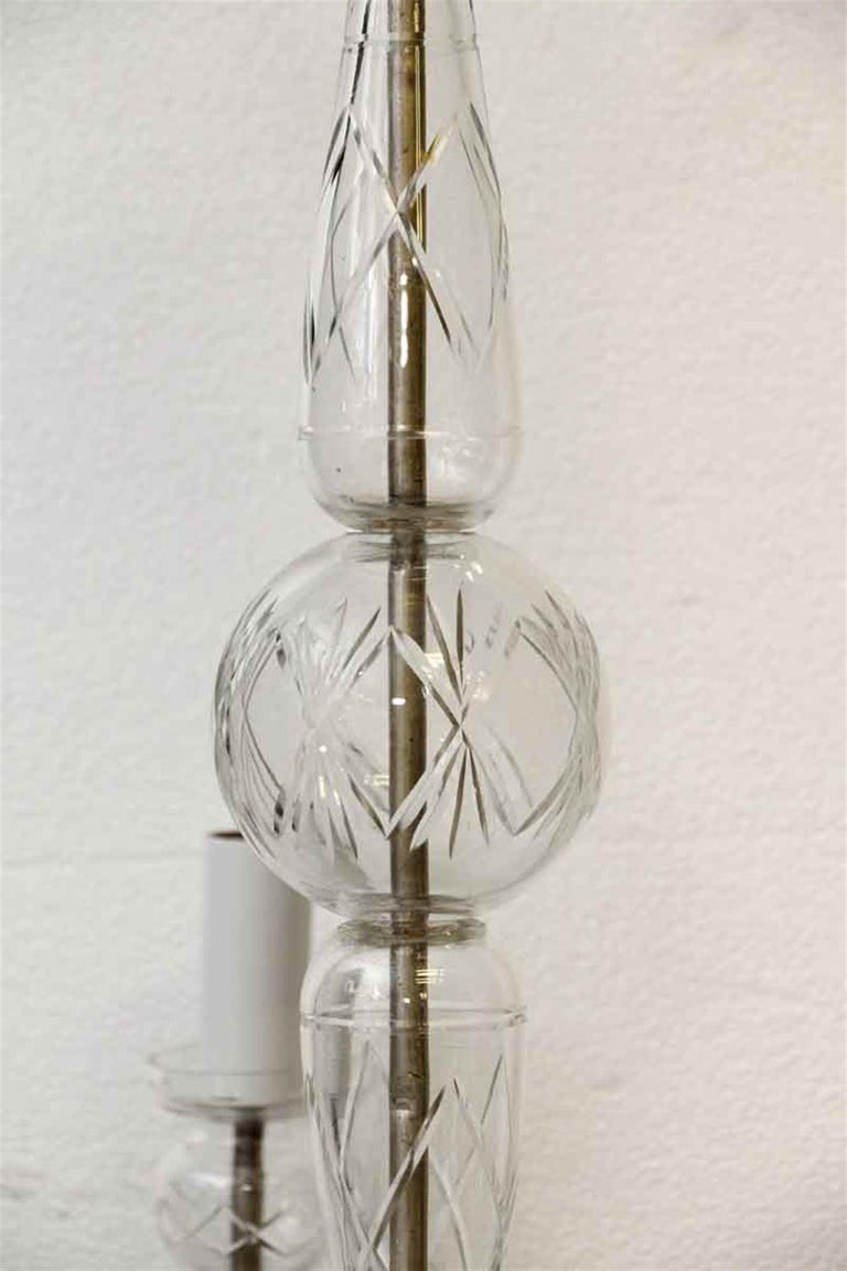 1960s Five-Light Crystal Chandelier In Good Condition For Sale In New York, NY
