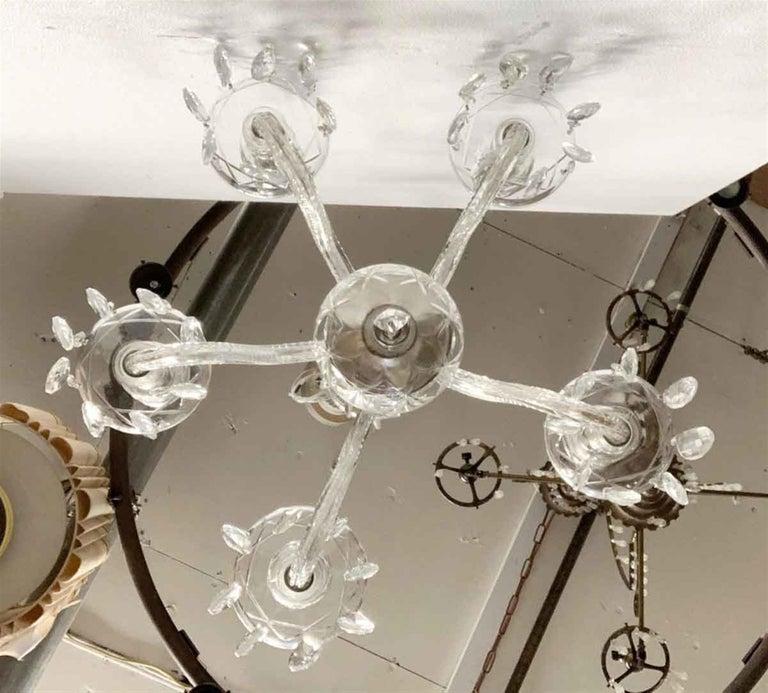 1960s Five-Light Crystal Chandelier For Sale 4