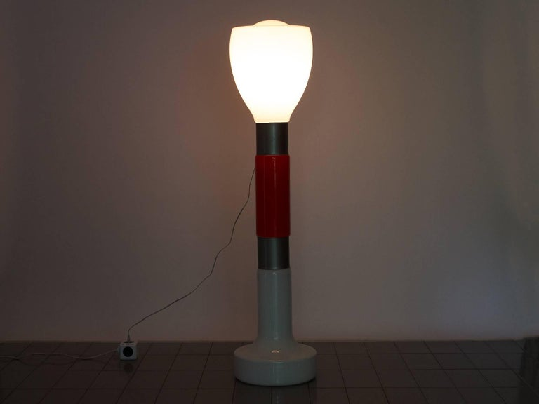 Mid-Century Modern 1960s Floor Lamp in Blown Glass by Carlo Nason for Mazzega, Italy For Sale