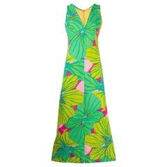 1960s Floral Fantasy Dress