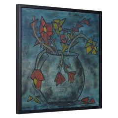 1960s Floral Painting