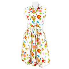 1960s Floral Printed Day Dress