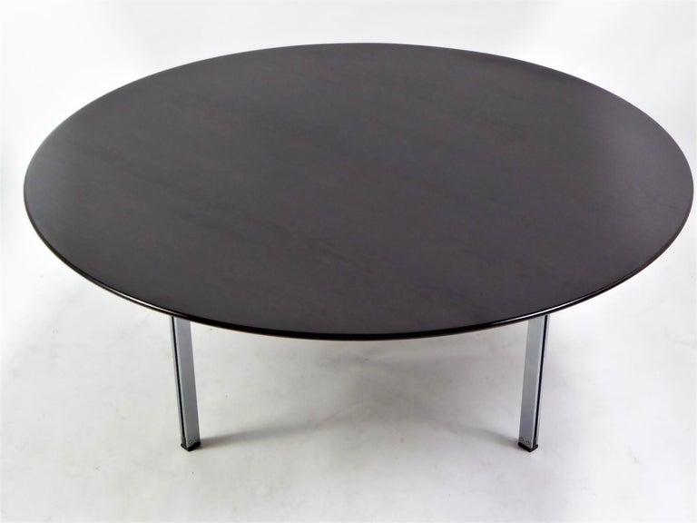 Mid-Century Modern 1960s Florence Knoll Parallel Bar Ebonized Coffee Table for Knoll For Sale