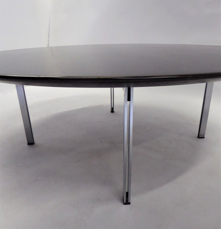 1960s Florence Knoll Parallel Bar Ebonized Coffee Table for Knoll In Good Condition For Sale In Miami, FL