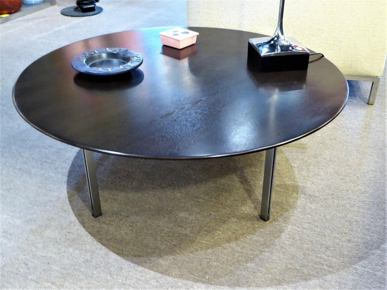 Mid-20th Century 1960s Florence Knoll Parallel Bar Ebonized Coffee Table for Knoll For Sale