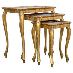 1960s Florentine Style Nesting Tables, Set of Three