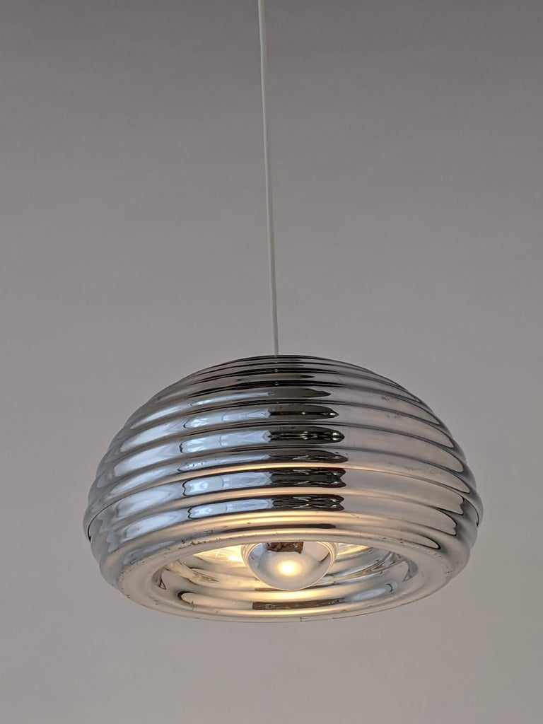 1960s Flos 'Splugen Brau' Aluminium Pendant by Achille Castiglioni, Italia In Good Condition For Sale In St- Leonard, Quebec