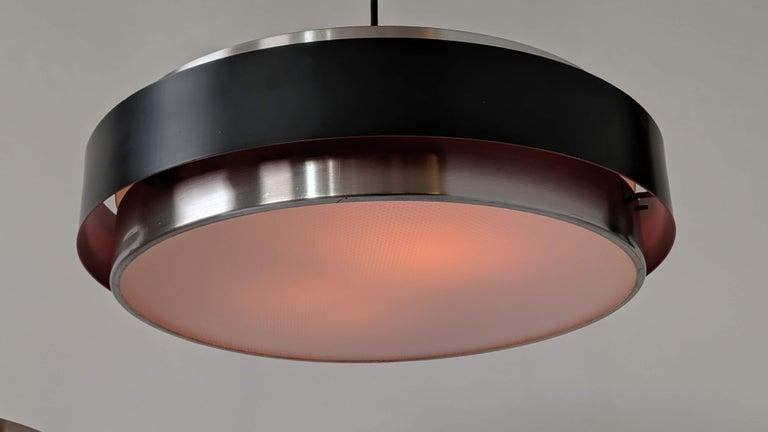 Aluminum 1960s Fog Morup ' Sera ' Pendants, Denmark For Sale
