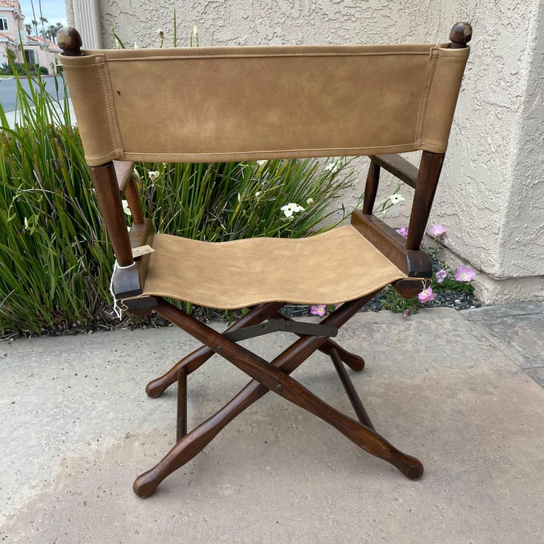 1960s Foldable DIRECTORS Safari Chair by Gold Medal Folding Furniture Racine WI For Sale 3