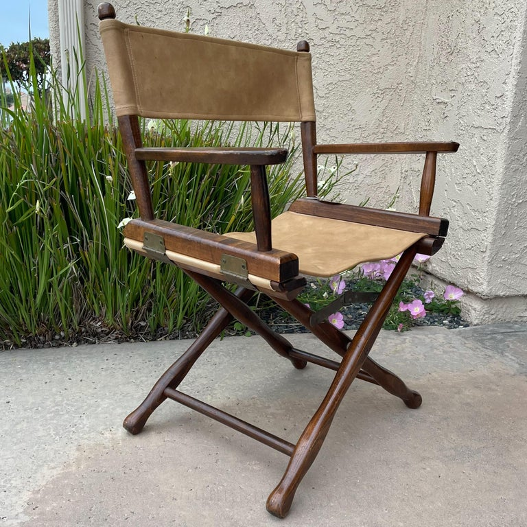 1960s Foldable DIRECTORS Safari Chair by Gold Medal Folding Furniture Racine WI For Sale 4