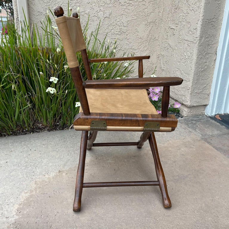 1960s Foldable DIRECTORS Safari Chair by Gold Medal Folding Furniture Racine WI For Sale 6