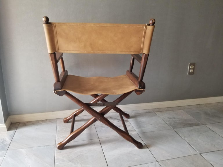 Mid-Century Modern 1960s Foldable DIRECTORS Safari Chair by Gold Medal Folding Furniture Racine WI For Sale
