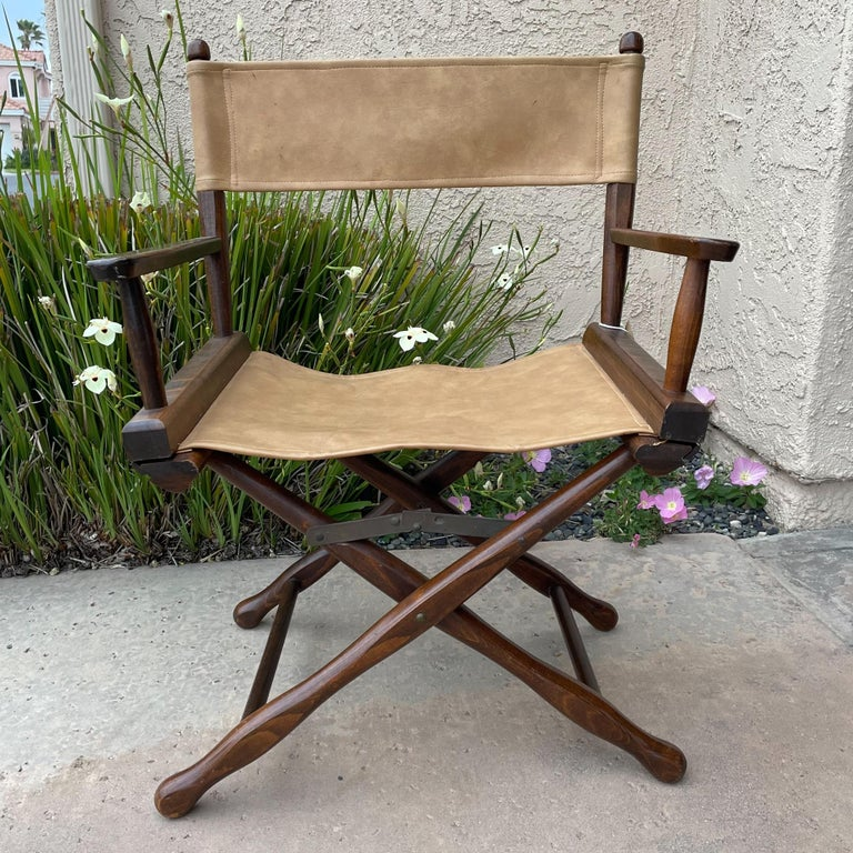 Mid-20th Century 1960s Foldable DIRECTORS Safari Chair by Gold Medal Folding Furniture Racine WI For Sale