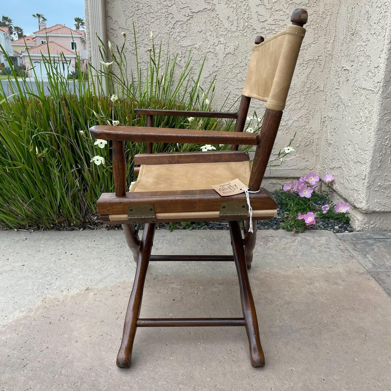 1960s Foldable DIRECTORS Safari Chair by Gold Medal Folding Furniture Racine WI For Sale 2