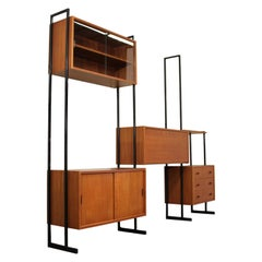 1960s Free Standing Teak Wall Unit by Interflex, UK