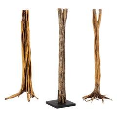1960s Freestanding Tropical Hardwood Tree Sculptures