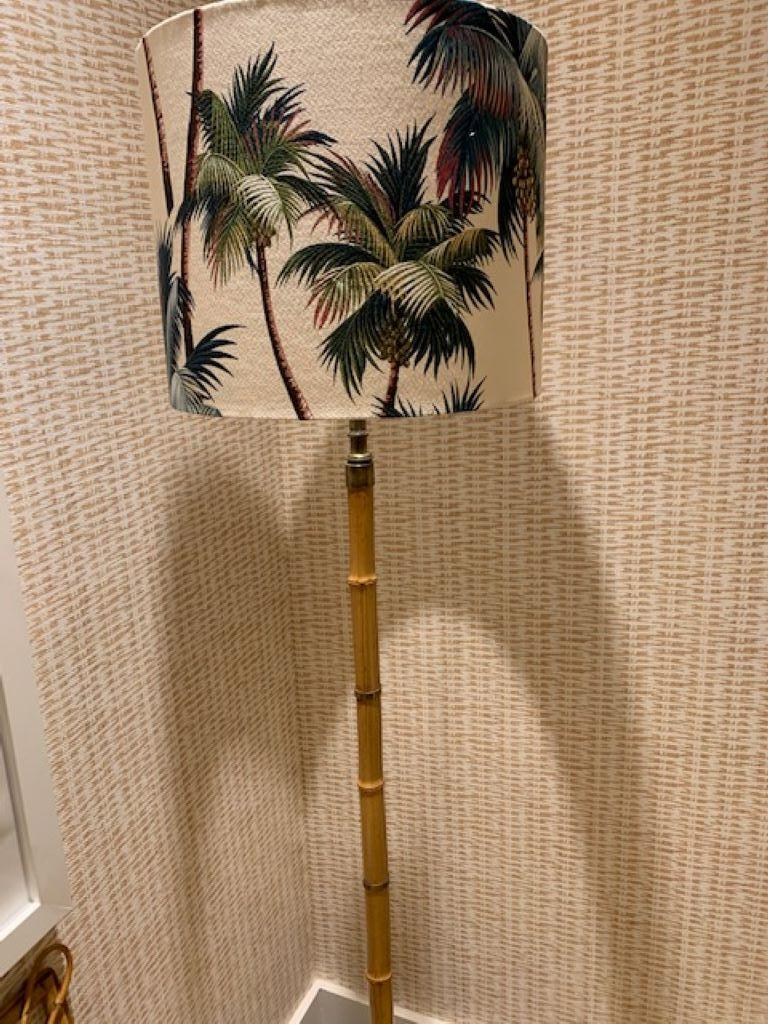 1960s French Bamboo Standing Lamp For Sale 1