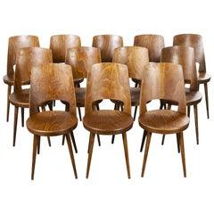 1960s French Baumann Bentwood Mondor Dining Chair, Set of Twelve