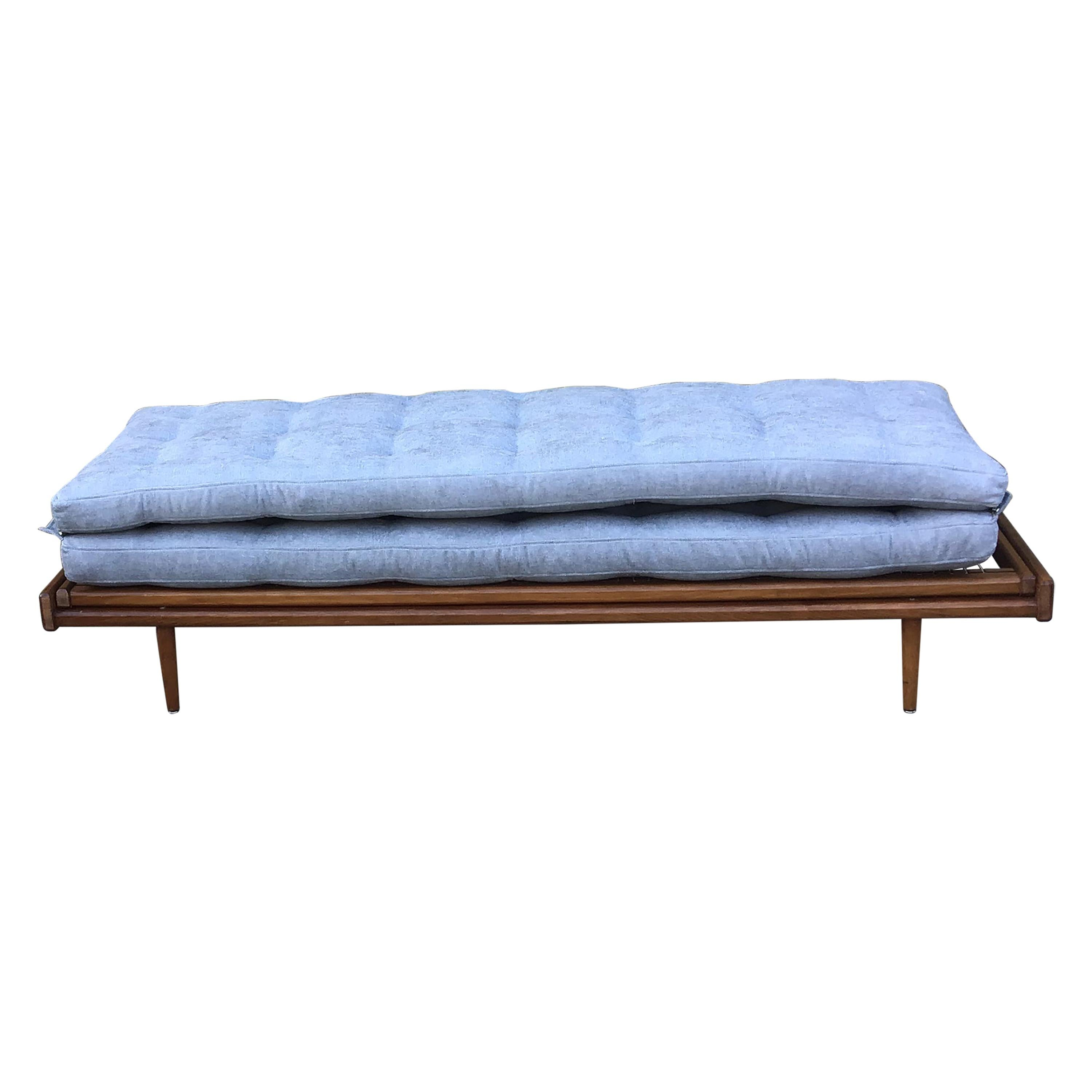 1960s French Daybed by Georges Tigien/1960s French Sofabed/1960s Blue Sofa
