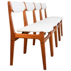 1960s French Dining Chairs, Set of Four