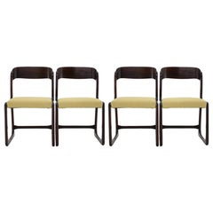 1960s French Emile & Walter Baumann Dining Chairs, Set of 4