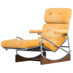 1960s French Lounge Rocking Chair by Lama