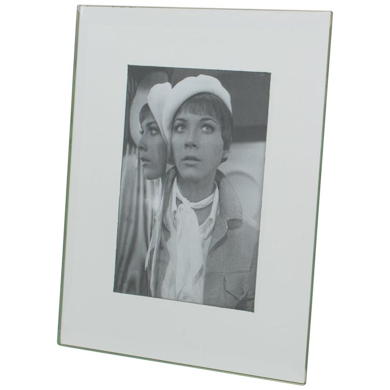 1960s French Mirrored Glass Picture Frame For Sale