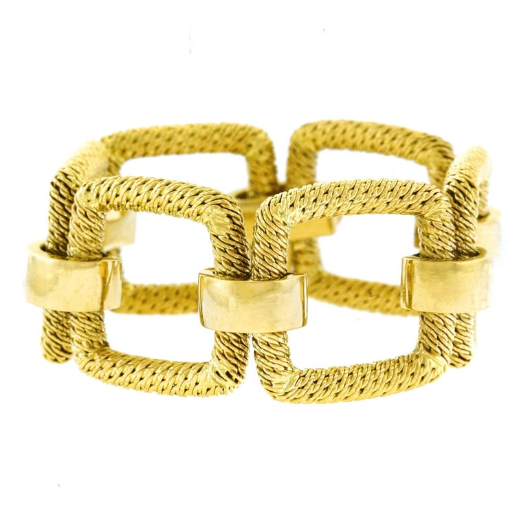 1960s French Mod Gold Bracelet For Sale 4