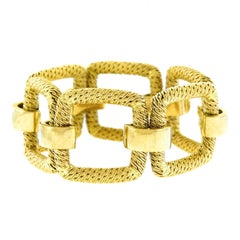 1960s French Mod Gold Bracelet