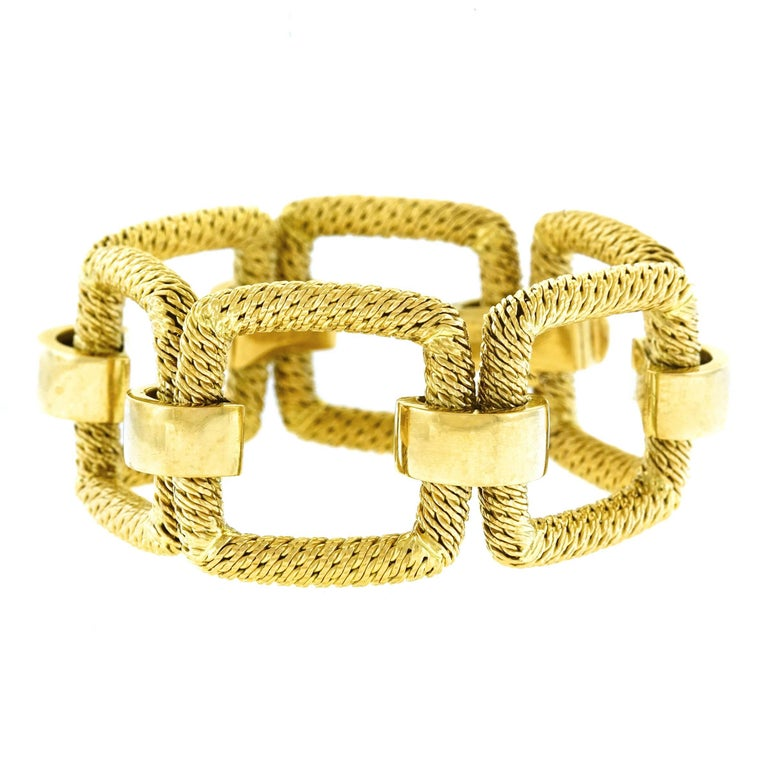 1960s French Mod Gold Bracelet For Sale