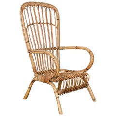1960s French Rattan Chair