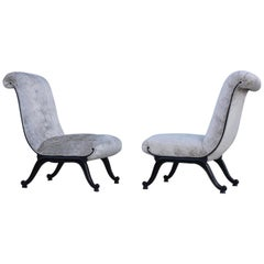 1960s French Slipper Chairs