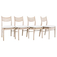 1960s French Upholstered Dining Chairs, Set of Four