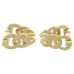 1960s French Yellow Gold Cufflinks